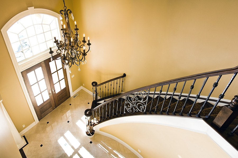 Open To Above Foyer : Luxury custom home galleries by steven moore homes